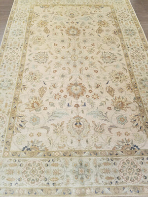 ik2323 - Classic Tabriz Rug (Wool) - 6' x 9' | OAKRugs by Chelsea wool bohemian rugs, good quality wool rugs, vintage wool braided rug
