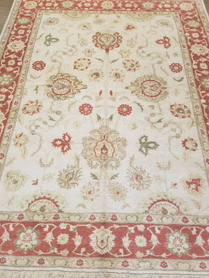 ik2412 - Classic Tabriz Rug (Wool) - 7' x 9' | OAKRugs by Chelsea wool bohemian rugs, good quality wool rugs, vintage wool braided rug