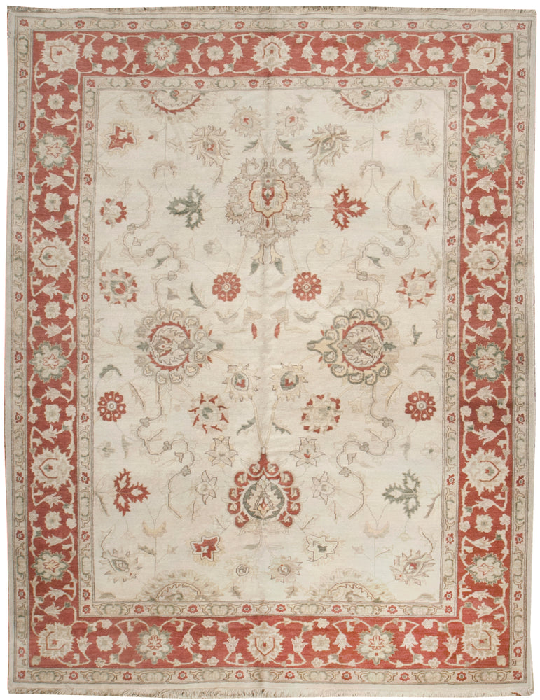 ik2412 - Classic Tabriz Rug (Wool) - 7' x 9' | OAKRugs by Chelsea affordable wool rugs, handmade wool area rugs, wool and silk rugs contemporary