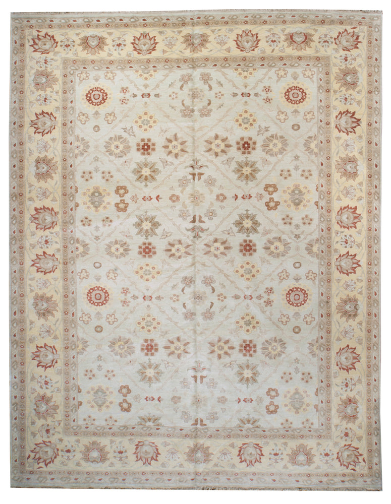 ik2439 - Classic Zeigler Rug (Wool) - 12' x 15' | OAKRugs by Chelsea affordable wool rugs, handmade wool area rugs, wool and silk rugs contemporary