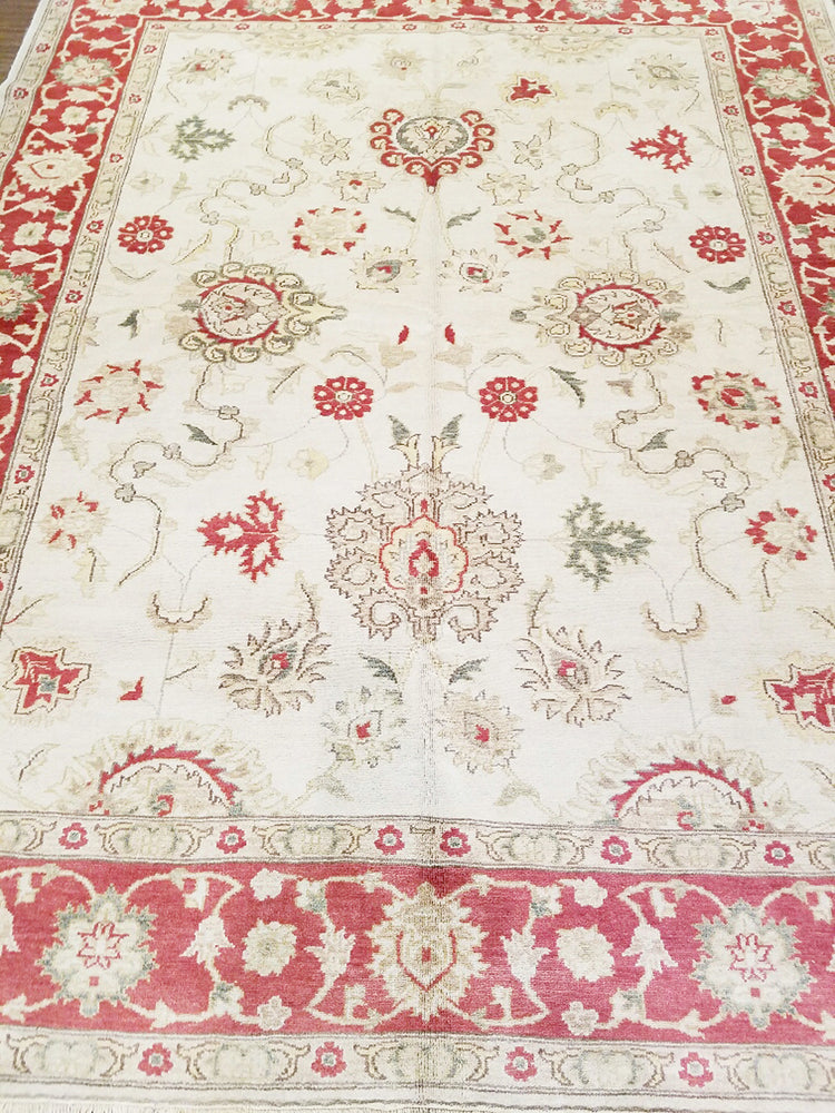 ik2445 - Classic Tabriz Rug (Wool) - 6' x 9' | OAKRugs by Chelsea wool bohemian rugs, good quality wool rugs, vintage wool braided rug