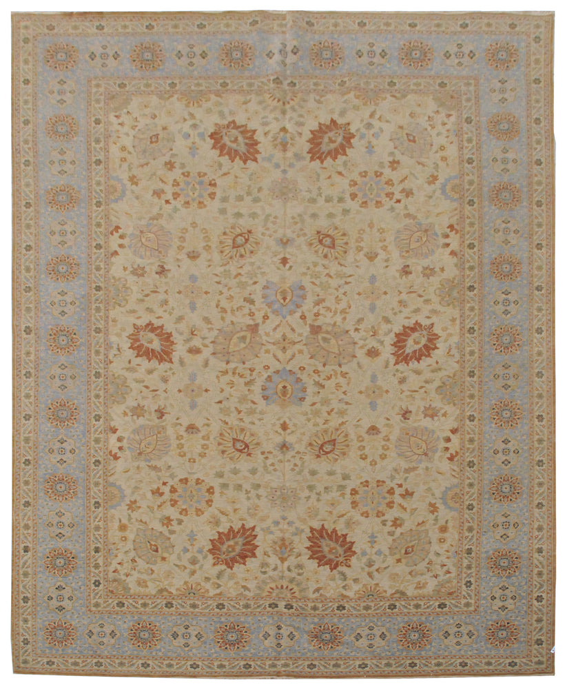 ik2494 - Classic Tabriz Rug (Wool) - 10' x 14' | OAKRugs by Chelsea affordable wool rugs, handmade wool area rugs, wool and silk rugs contemporary
