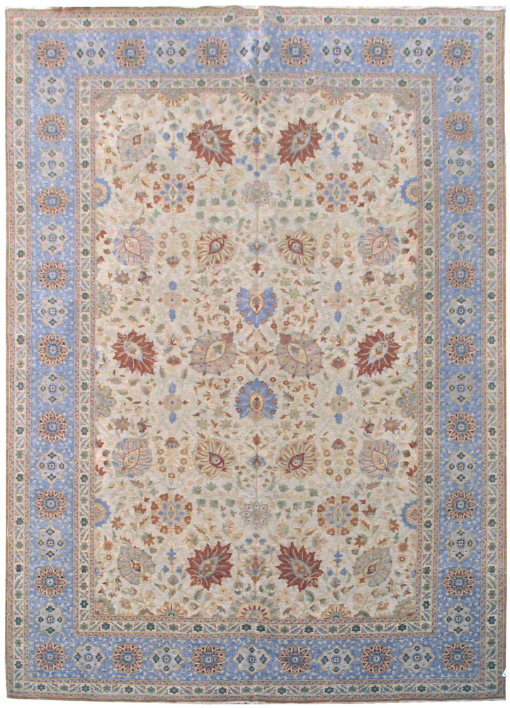 ik2536 - Classic Tabriz Rug (Wool) - 12' x 18' | OAKRugs by Chelsea high end wool rugs, hand knotted wool area rugs, quality wool rugs