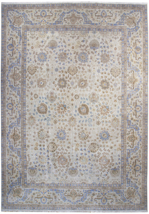 ik2571 - Classic Tabriz Rug (Wool) - 12' x 15' | OAKRugs by Chelsea affordable wool rugs, handmade wool area rugs, wool and silk rugs contemporary