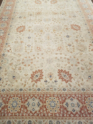 ik2578 - Classic Tabriz Rug (Wool) - 9' x 12' | OAKRugs by Chelsea wool bohemian rugs, good quality wool rugs, vintage wool braided rug