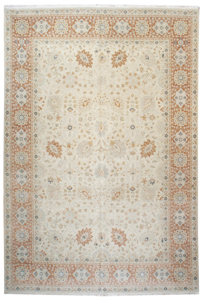 ik2578 - Classic Tabriz Rug (Wool) - 9' x 12' | OAKRugs by Chelsea affordable wool rugs, handmade wool area rugs, wool and silk rugs contemporary