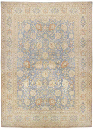 ik2584 - Classic Tabriz Rug (Wool) - 12' x 15' | OAKRugs by Chelsea affordable wool rugs, handmade wool area rugs, wool and silk rugs contemporary