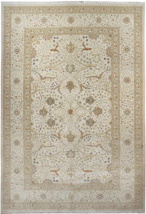 ik2622 - Classic Tabriz Rug (Wool) - 10' x 14' | OAKRugs by Chelsea affordable wool rugs, handmade wool area rugs, wool and silk rugs contemporary