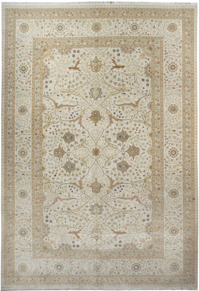 ik2622 - Classic Tabriz Rug (Wool) - 10' x 14' | OAKRugs by Chelsea high end wool rugs, hand knotted wool area rugs, quality wool rugs
