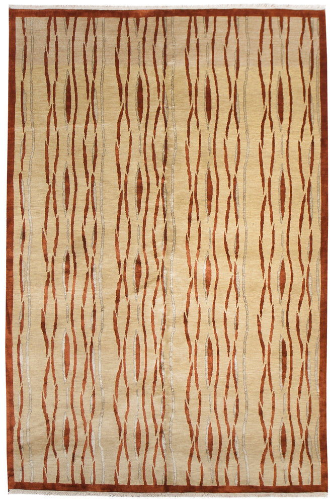 ik2632 - Classic Tabriz Rug (Wool and SIlk) - 6' x 9' | OAKRugs by Chelsea inexpensive wool rugs, unique wool rugs, wool rug vintage