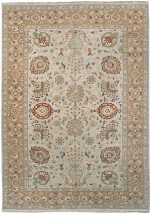 ik2637 - Classic Tabriz Rug (Wool) - 9' x 12' | OAKRugs by Chelsea affordable wool rugs, handmade wool area rugs, wool and silk rugs contemporary
