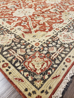 ik2648 - Classic Agra Rug (Wool) - 10' x 14' | OAKRugs by Chelsea high end wool rugs, hand knotted wool area rugs, quality wool rugs