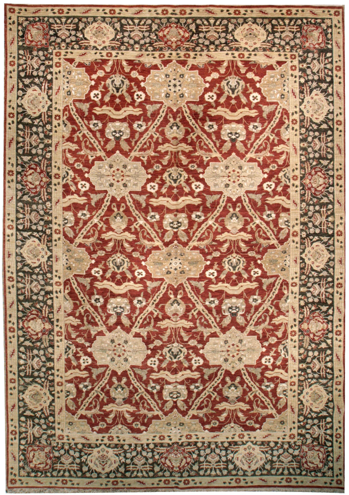 ik2648 - Classic Agra Rug (Wool) - 10' x 14' | OAKRugs by Chelsea affordable wool rugs, handmade wool area rugs, wool and silk rugs contemporary