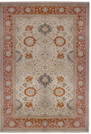 ik2650 - Classic Agra Rug (wool) - 10' x 14' | OAKRugs by Chelsea affordable wool rugs, handmade wool area rugs, wool and silk rugs contemporary