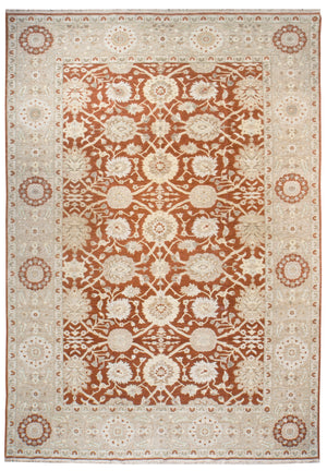 ik2651 - Classic Zeigler Rug (Wool) - 10' x 14' | OAKRugs by Chelsea affordable wool rugs, handmade wool area rugs, wool and silk rugs contemporary