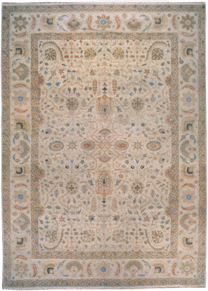 ik2662 - Classic Zeigler Rug (wool) - 12' x 15' | OAKRugs by Chelsea affordable wool rugs, handmade wool area rugs, wool and silk rugs contemporary