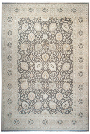 ik2669 - Classic Tabriz Rug (Wool) - 10' x 14' | OAKRugs by Chelsea high end wool rugs, hand knotted wool area rugs, quality wool rugs