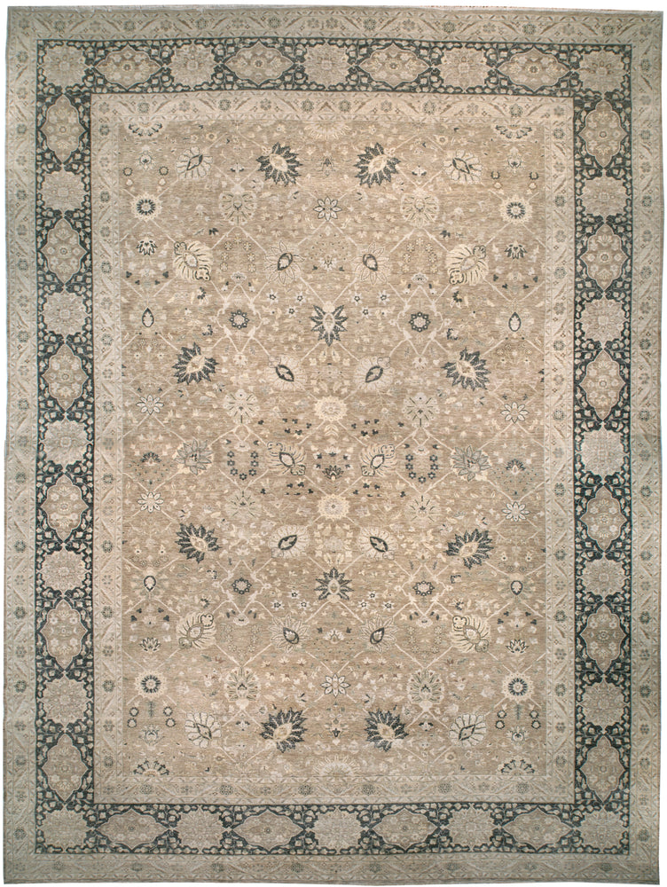 ik2704 - Classic Agra Rug (wool) - 16' x 21' | OAKRugs by Chelsea affordable wool rugs, handmade wool area rugs, wool and silk rugs contemporary