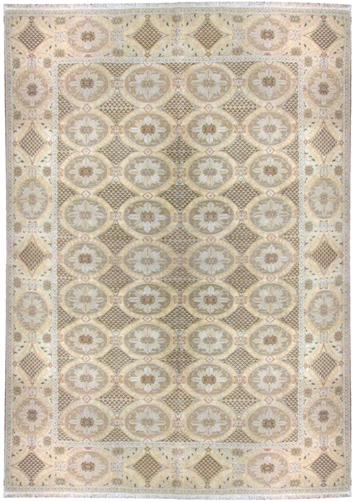 ik2714 - Classic Zeigler Rug (Wool) - 9' x 12' | OAKRugs by Chelsea wool silk rugs contemporary, handmade modern wool rugs, wool silk area rugs contemporary