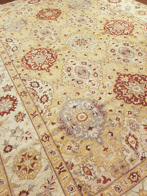 ik2716 - Oriental Amritza Rug (wool) - 9' x 12' | OAKRugs by Chelsea wool bohemian rugs, good quality wool rugs, vintage wool braided rug