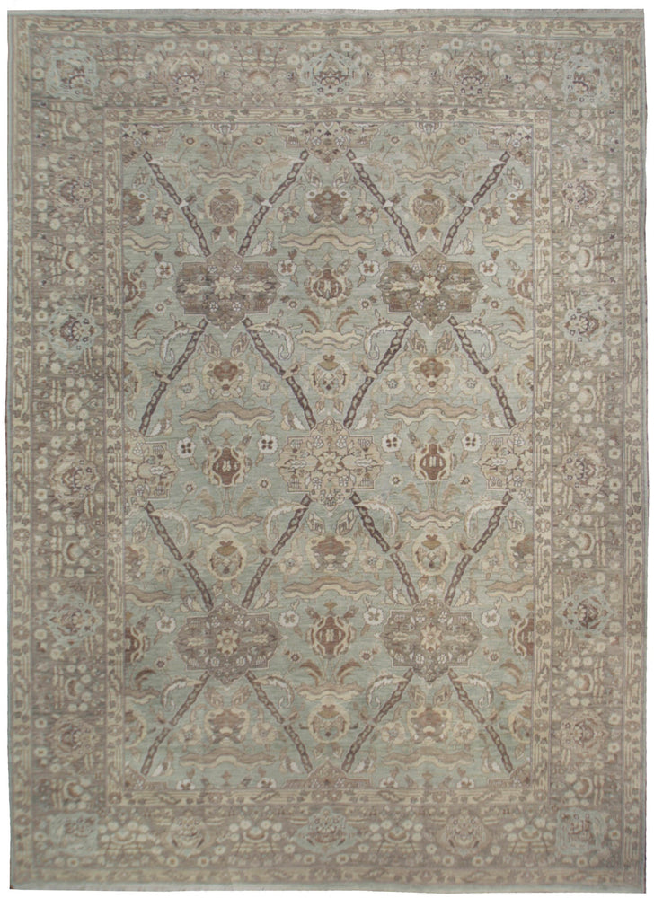 ik2740 - Classic Agra Rug (Wool) - 12' x 18' | OAKRugs by Chelsea affordable wool rugs, handmade wool area rugs, wool and silk rugs contemporary