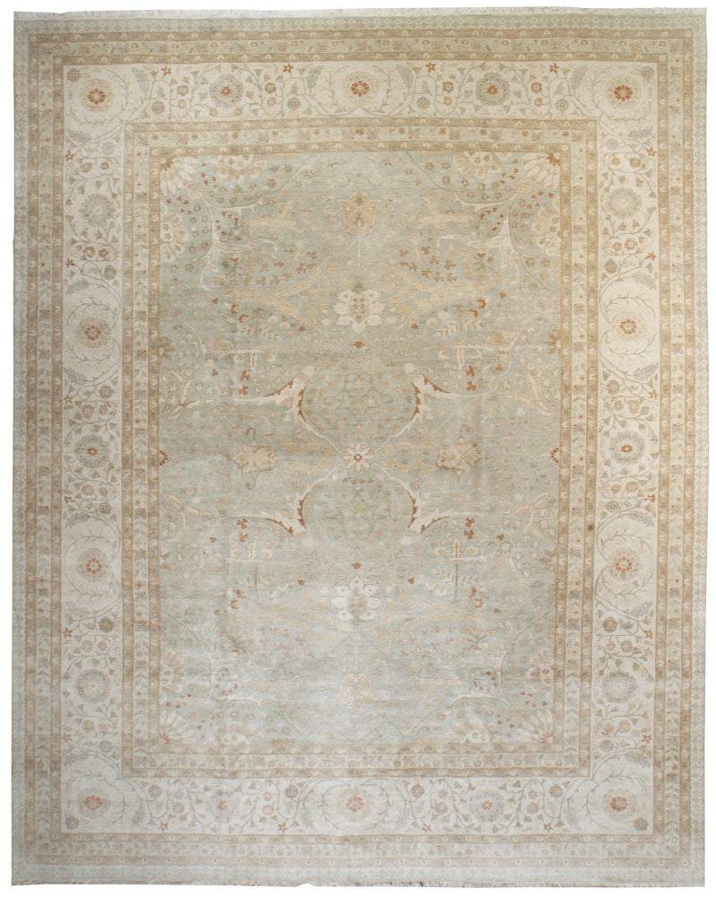 ik2766 - Classic Tabriz Rug (Wool) - 10' x 14' | OAKRugs by Chelsea affordable wool rugs, handmade wool area rugs, wool and silk rugs contemporary