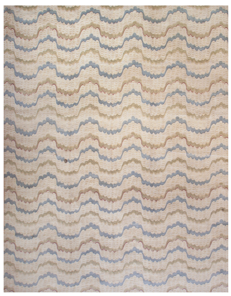 ik2776 - Contemporary Rug (Wool) - 10' x 14' | OAKRugs by Chelsea wool silk rugs contemporary, handmade modern wool rugs, wool silk area rugs contemporary
