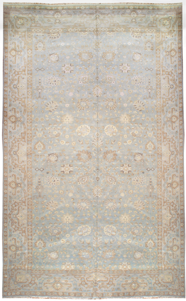 ik72114 - Classic Tabriz Rug (Wool and Silk) - 11' x 19' | OAKRugs by Chelsea affordable wool rugs, handmade wool area rugs, wool and silk rugs contemporary