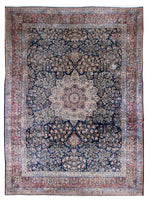 irj1110 - Vintage Kerman, Handknotted Wool Rug, (9' x 12') | OAKRugs by Chelsea high end wool rugs, good quality rugs, vintage and antique, handknotted area rugs