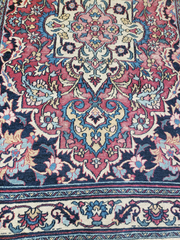irj1111 - Vintage Kashan, Handknotted Wool Rug, (3' x 5') | OAKRugs by Chelsea high end wool rugs, good quality rugs, vintage and antique, handknotted area rugs