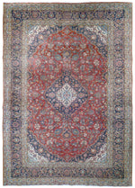irj1112 - Vintage Kerman, Handknotted Wool Rug, (10' x 14') | OAKRugs by Chelsea high end wool rugs, good quality rugs, vintage and antique, handknotted area rugs