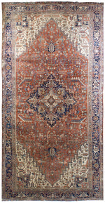 irj1115 - Vintage Oriental, Handknotted Wool Rug, (9' x 18') | OAKRugs by Chelsea high end wool rugs, good quality rugs, vintage and antique, handknotted area rugs