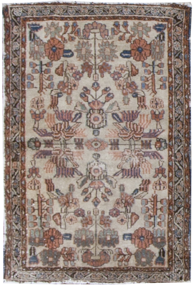 irj1118 - Vintage Oriental, Handknotted Wool Rug, (3' x 4') | OAKRugs by Chelsea high end wool rugs, good quality rugs, vintage and antique, handknotted area rugs