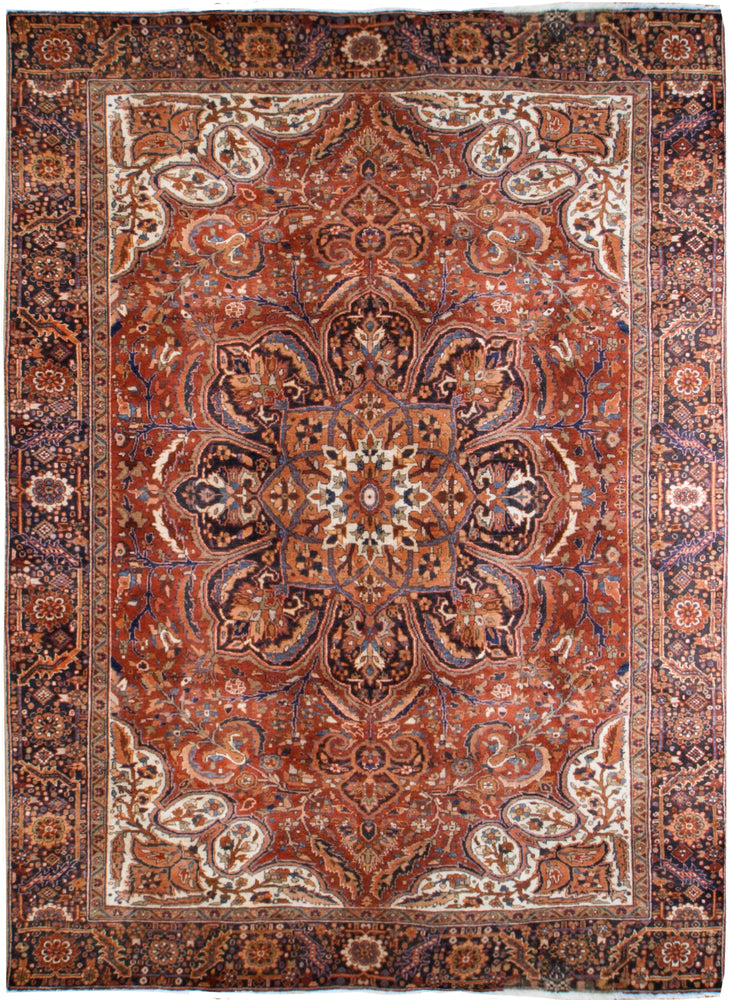 irj1129 - Vintage Serapi, Handknotted Wool Rug, (9' x 12') | OAKRugs by Chelsea high end wool rugs, good quality rugs, vintage and antique, handknotted area rugs
