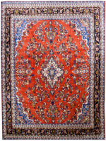 irj1130 - Vintage Hamadan, Handknotted Wool Rug, (10' x 14') | OAKRugs by Chelsea high end wool rugs, good quality rugs, vintage and antique, handknotted area rugs