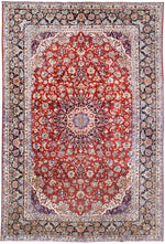 irj1132 - Vintage Farahan, Handknotted Wool Rug, (10' x 14') | OAKRugs by Chelsea high end wool rugs, good quality rugs, vintage and antique, handknotted area rugs