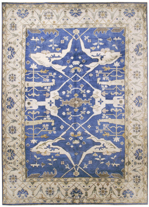 irj1133 - Vintage Oriental, Handknotted Bamboo Rug, (9' x 12') | OAKRugs by Chelsea high end wool rugs, good quality rugs, vintage and antique, handknotted area rugs