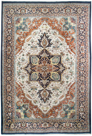 irj1135 - Vintage Indo Serapi, Handknotted Wool Rug, (12' x 18') | OAKRugs by Chelsea high end wool rugs, good quality rugs, vintage and antique, handknotted area rugs