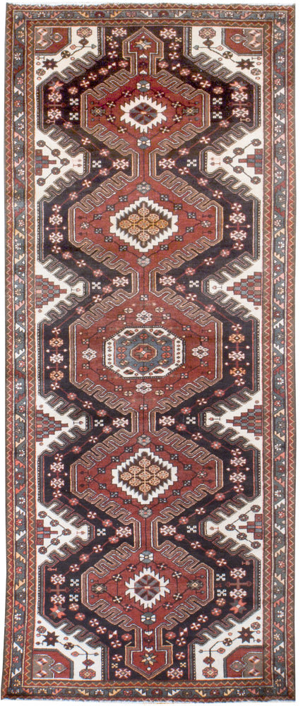 irj1136 - Vintage Oriental, Handknotted Wool Rug, (4' x 10') | OAKRugs by Chelsea high end wool rugs, good quality rugs, vintage and antique, handknotted area rugs