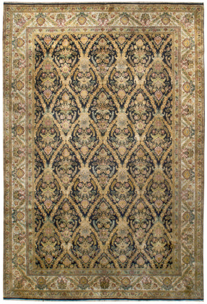 irj1141 - Vintage Kerman, Handknotted Wool Rug, (10' x 14') | OAKRugs by Chelsea high end wool rugs, good quality rugs, vintage and antique, handknotted area rugs