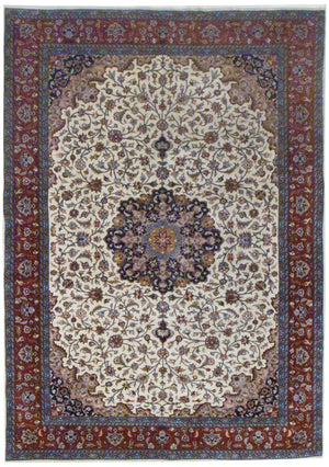 irj1143 - Vintage Oriental, Handknotted Wool Rug, (6' x 9') | OAKRugs by Chelsea high end wool rugs, good quality rugs, vintage and antique, handknotted area rugs