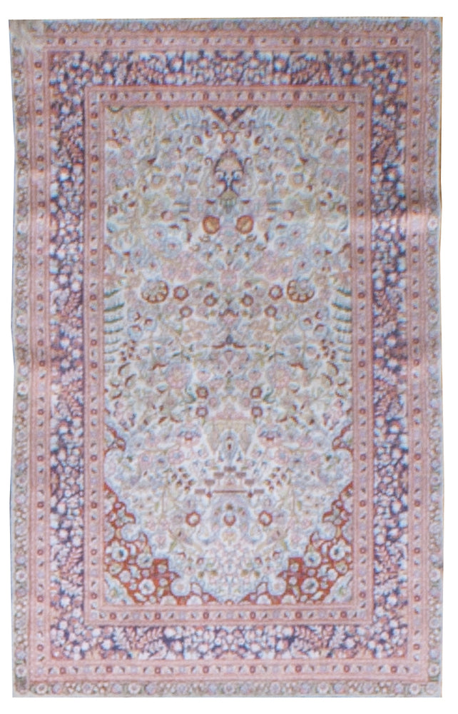 irj1146 - Vintage Oriental, Handknotted Silk Rug, (2' x 4') | OAKRugs by Chelsea high end wool rugs, good quality rugs, vintage and antique, handknotted area rugs
