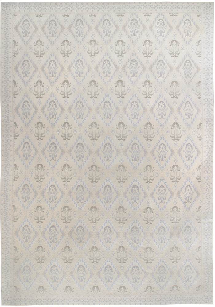 irj1148 - Vinatage Transitional, Handknotted Wool Rug, (12' x 17') | OAKRugs by Chelsea high end wool rugs, good quality rugs, vintage and antique, handknotted area rugs