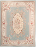 irj1156 - Vintage Needlepoint, Handknotted Wool Rug, (9' x 12') | OAKRugs by Chelsea high end wool rugs, good quality rugs, vintage and antique, handknotted area rugs