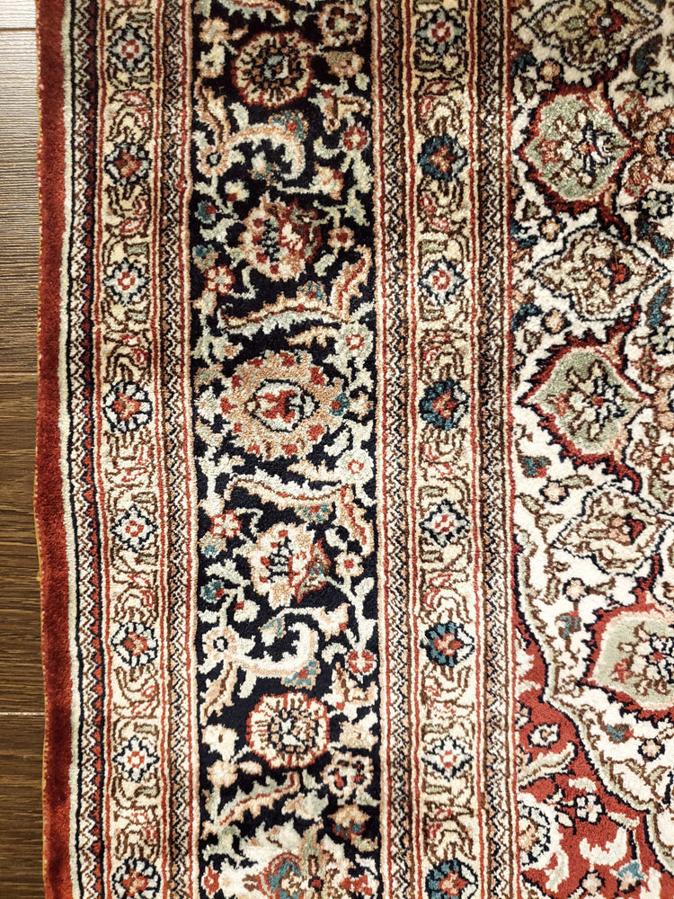 irj1157 - Vintage Oriental, Handknotted Silk Rug, (3' x 5') | OAKRugs by Chelsea high end wool rugs, good quality rugs, vintage and antique, handknotted area rugs
