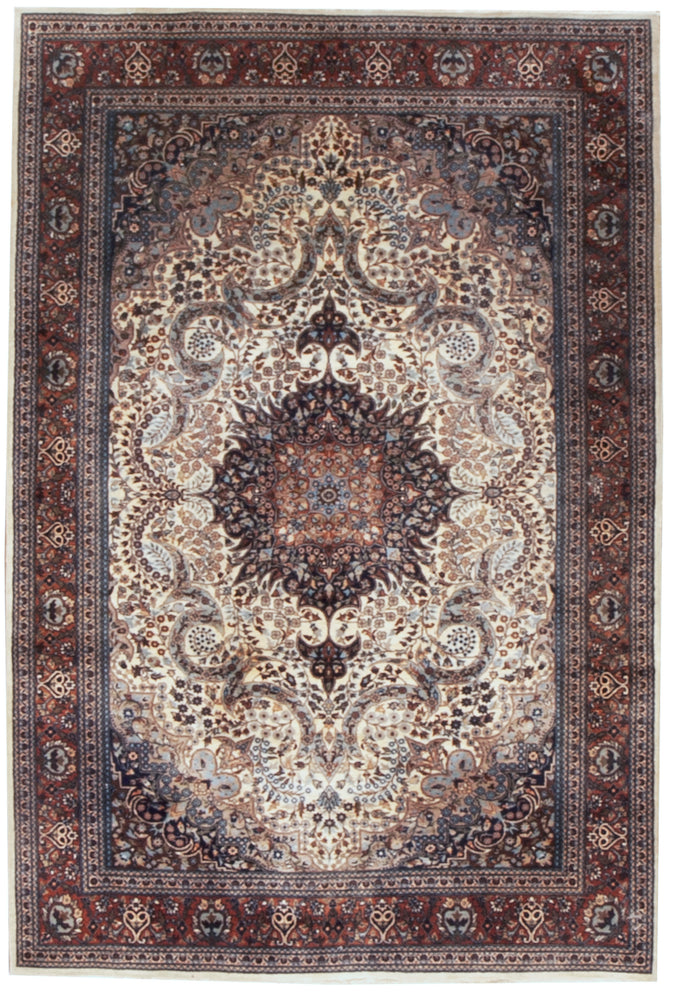 irj1162 - Vintage Oriental, Handknotted Wool Rug, (5' x 7') | OAKRugs by Chelsea high end wool rugs, good quality rugs, vintage and antique, handknotted area rugs