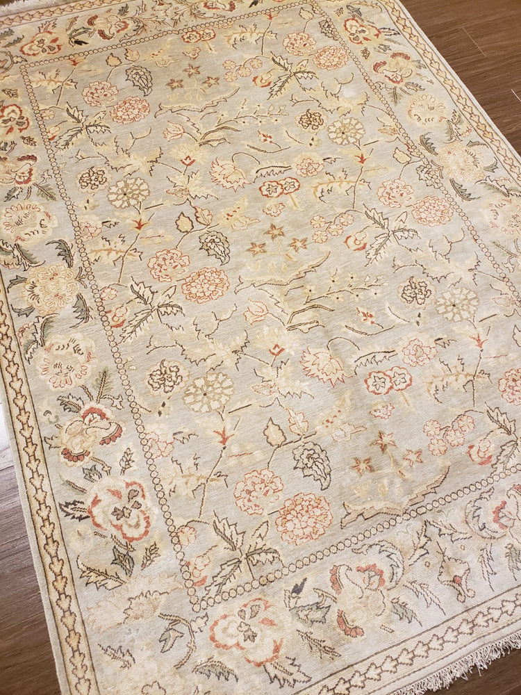 k1017 - Classic Besserebian Rug (Silk) - 5' x 7' | OAKRugs by Chelsea wool bohemian rugs, good quality wool rugs, vintage wool braided rug