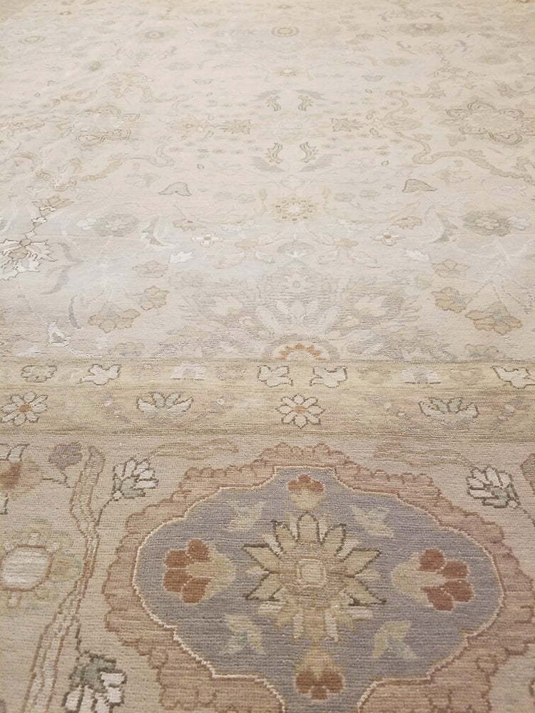 k5001 - Transitional Tabriz Rug (Wool and Silk) - 12' x 15' | OAKRugs by Chelsea high end wool rugs, hand knotted wool area rugs, quality wool rugs