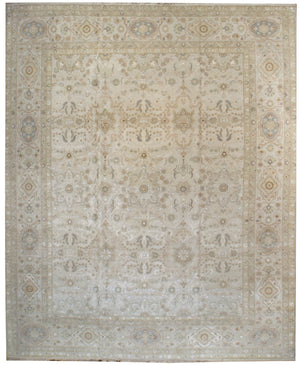 k5001 - Transitional Tabriz Rug (Wool and Silk) - 12' x 15' | OAKRugs by Chelsea affordable wool rugs, handmade wool area rugs, wool and silk rugs contemporary