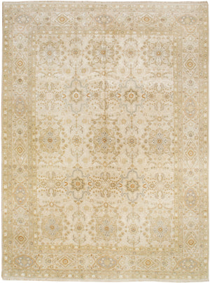 k5003 - Transitional Tabriz Rug (Wool and Silk) - 8' x 10' | OAKRugs by Chelsea high end wool rugs, hand knotted wool area rugs, quality wool rugs